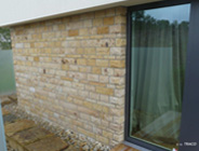 Seeberger Sandstein, Fassaden, Verblendmauerwerk, Bossenpfeiler, Abdeckungen