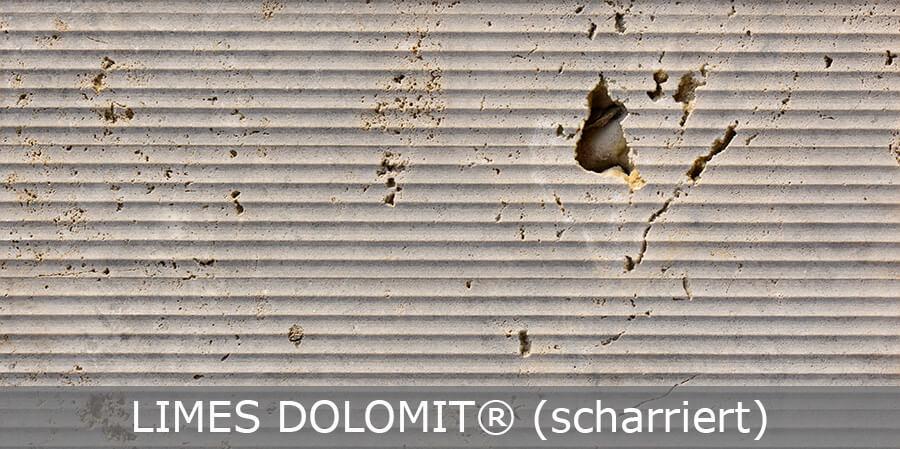 Limes Dolomit® scharriert von TRACO
