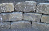 BARBAROSSA Mauersteine, lose, Kalkstein grau
