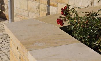 Mauerabdeckung Seeberger Sandstein