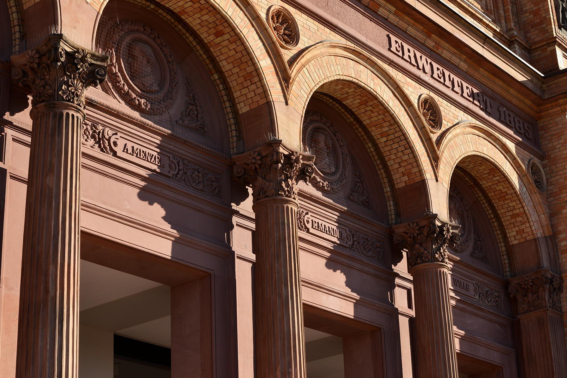 Kunsthalle Hamburg Gewände Sturz Säulen profiliert Mainsandstein