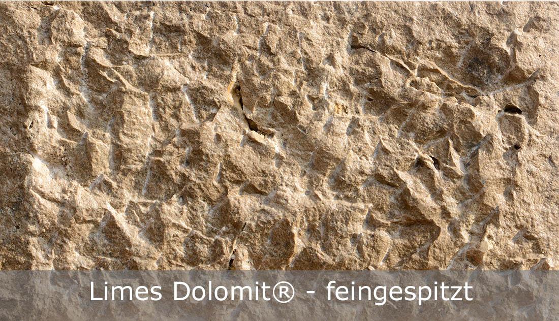 Limes Dolomit® mit feingespitzter Oberfläche