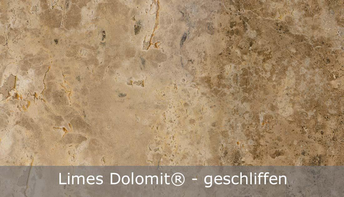 Limes Dolomit® mit geschliffener Oberfläche