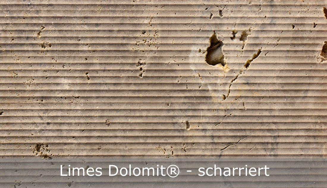 Limes Dolomit® mit scharrierter Oberfläche