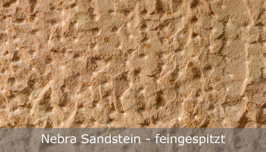 Nebra Sandstein mit feingespitzter Oberfläche