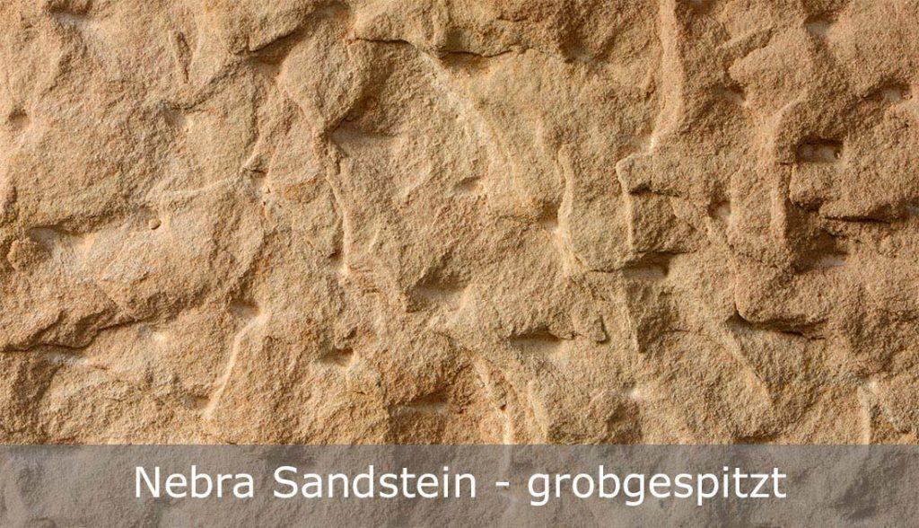 Nebra Sandstein mit grobgespitzter Oberfläche