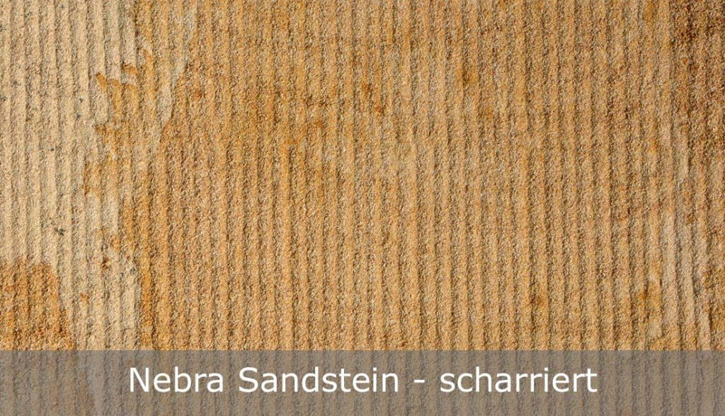 Nebra Sandstein mit scharrierter Oberfläche