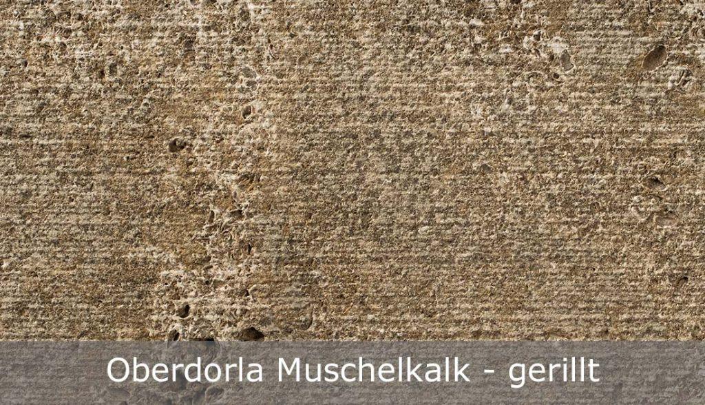 Oberdorla Muschelkalk mit gerillter Oberfläche