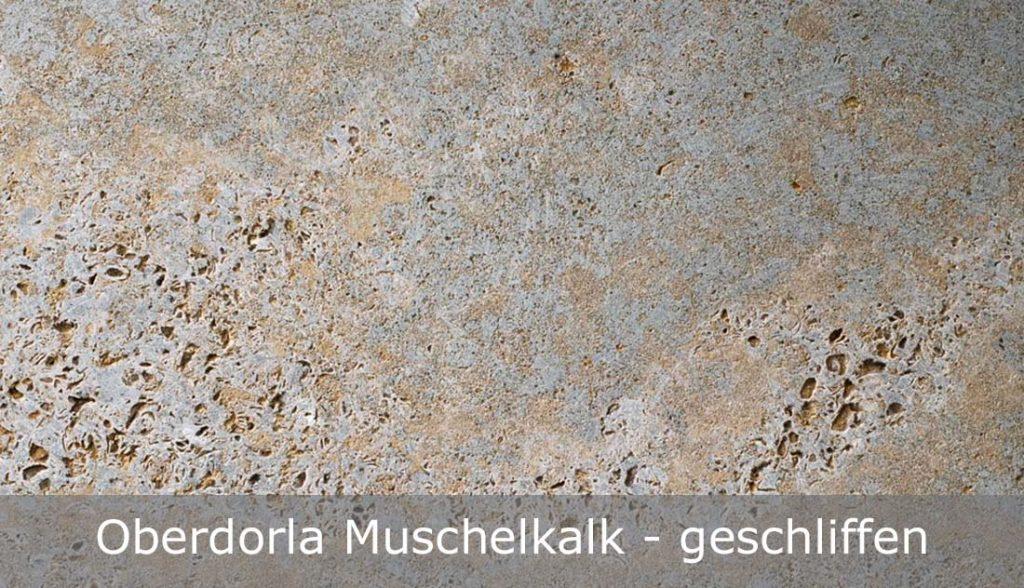 Oberdorla Muschelkalk mit geschliffener Oberfläche