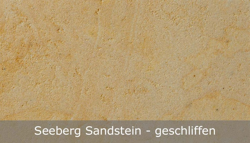 Seeberg Sandstein mit geschliffener Oberfläche