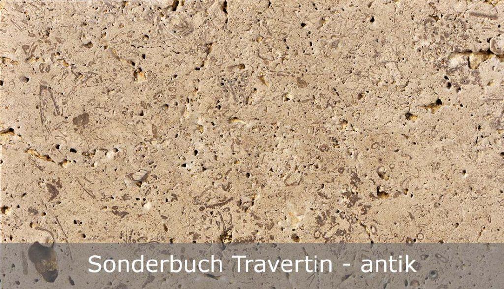 Sonderbuch Travertin mit antiker Oberfläche