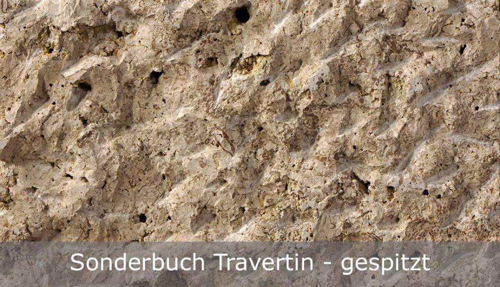 Sonderbuch Travertin mit gespitzter Oberfläche