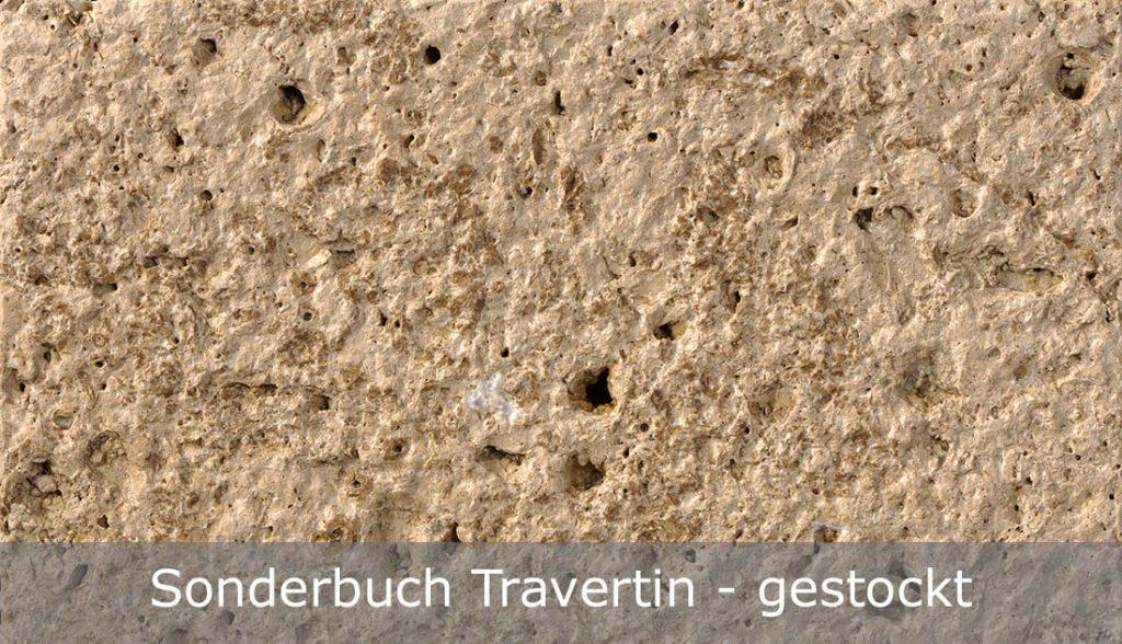Sonderbuch Travertin mit gestockter Oberfläche