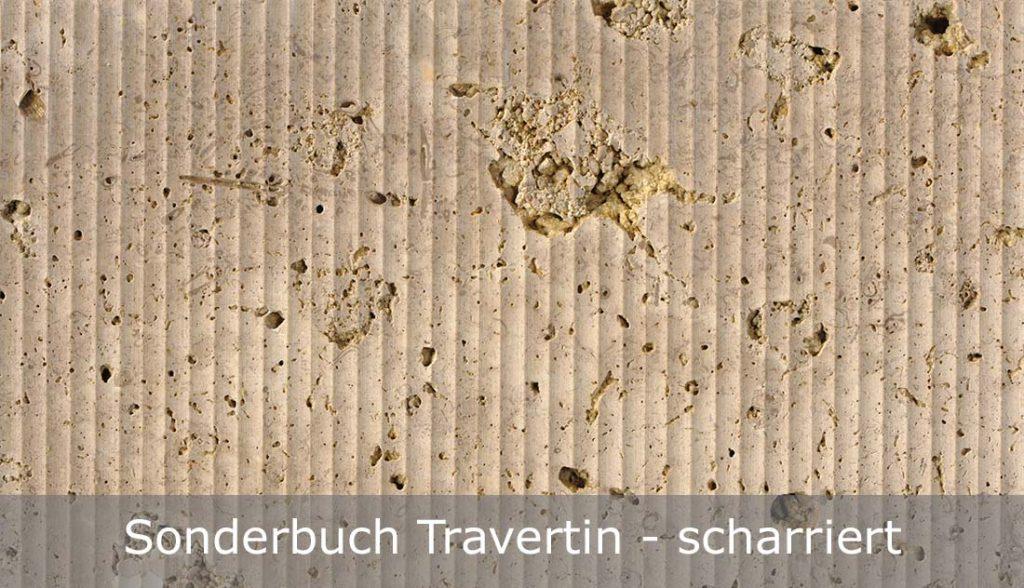 Sonderbuch Travertin mit scharrierter Oberfläche