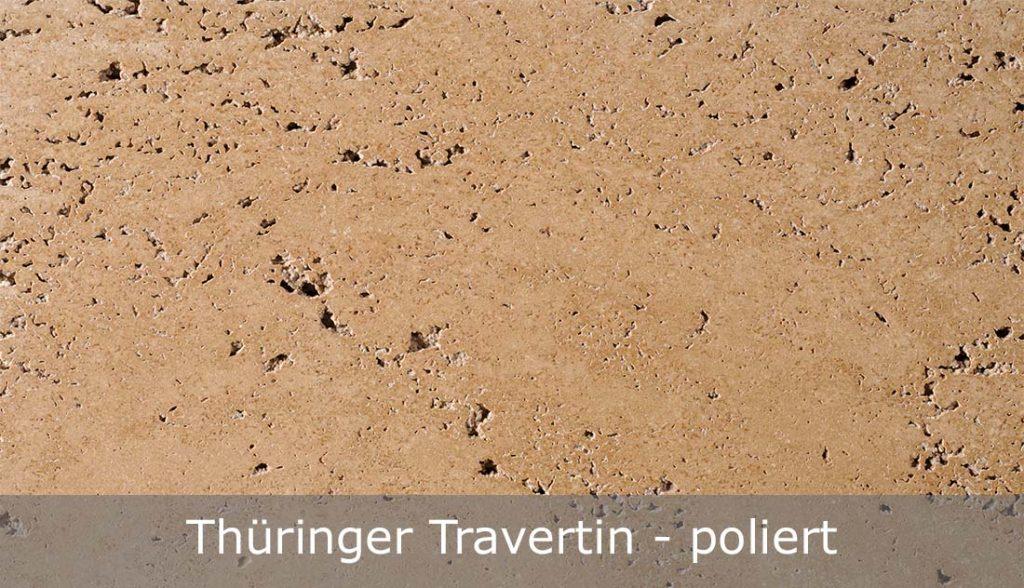 Thüringer Travertin mit polierter Oberfläche