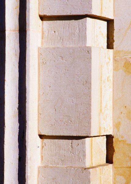 Säule aus Sandstein
