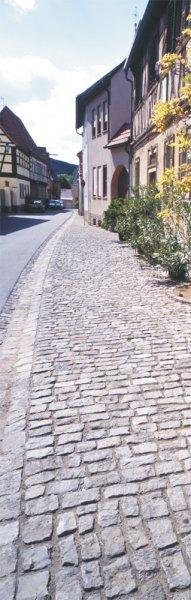 Historisches Jena Großpflaster von TRACO als Fußgängerweg