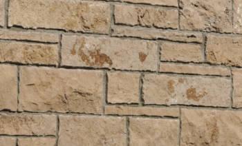 Hammerrechtes Schichtenmauerwerk Travertin