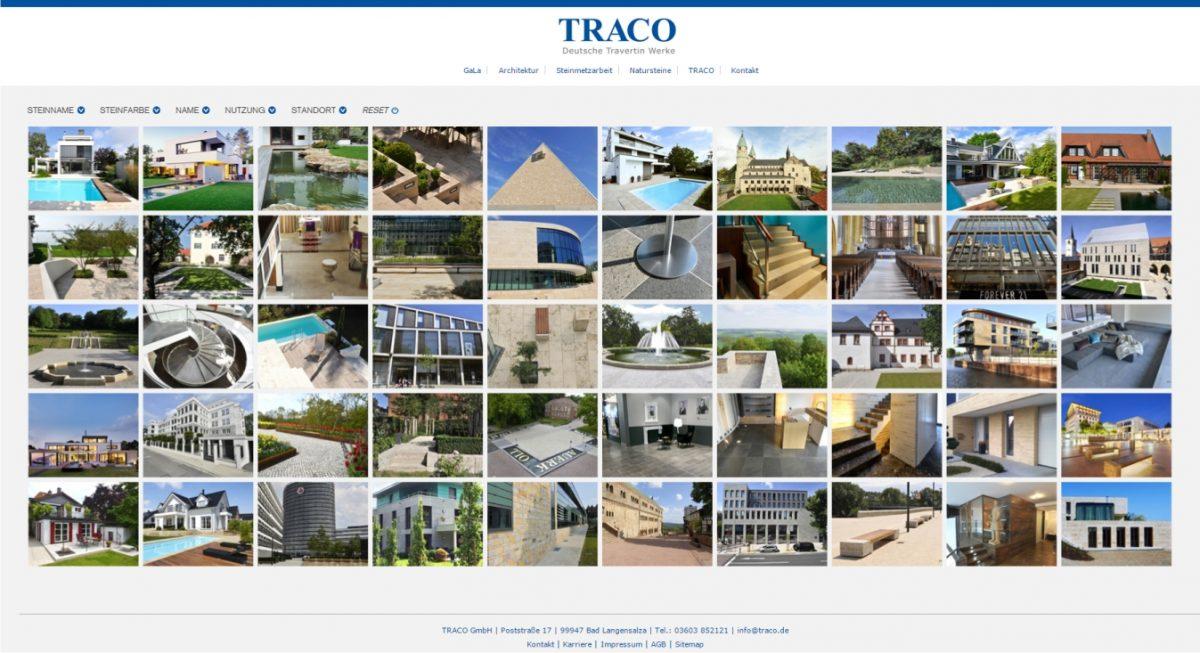 Projektdatenbank von TRACO
