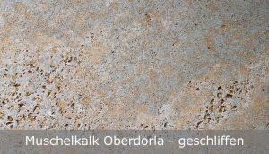 Muschelkalk Oberdorla mit geschliffener Oberfläche