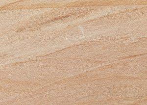 Detailansicht TRACO Naturstein Nebra Buntsandstein in grau-weiß / lachsorange mit geschliffener Oberfläche