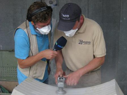 TRACO Natursteinbearbeitung bei Radiobeitrag