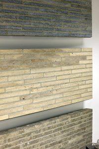 Traco Cube Riegel Fassade Verblendung Mauerwerk Kohlplatter Muschkalk edelgrau Limes Dolomit Bauhaus Travertin hell 555 gesägt