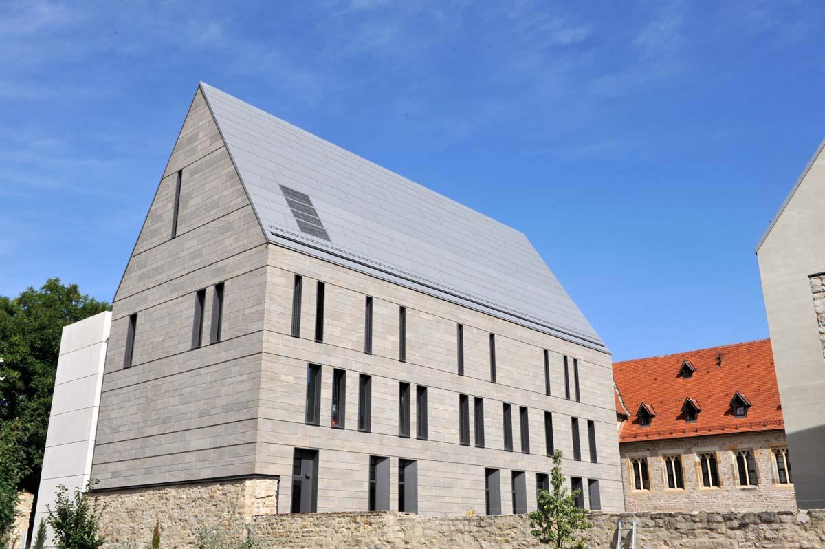Augustinerkloster Erfurt Fassade Oberdorlaer Muschelkalk Überlager geschliffen C 120