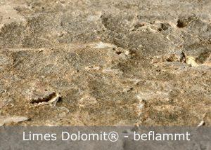 Limes Dolomit® mit beflammter Oberfläche