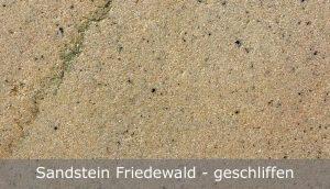 Sandstein Friedewald mit geschliffener Oberfläche