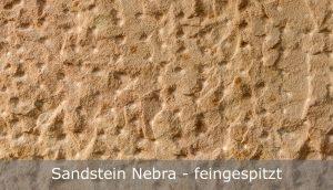 Sandstein Nebra mit feingespitzter Oberfläche