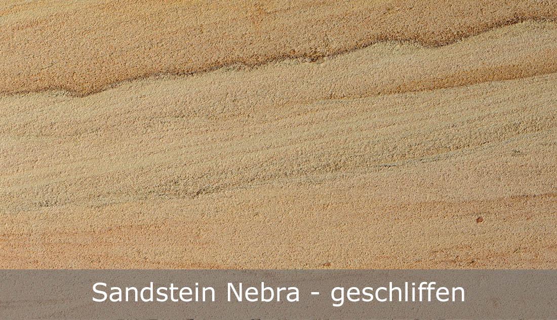 Sandstein Nebra mit geschliffener Oberfläche