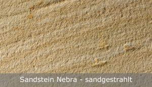 Sandstein Nebra mit sandgestrahlter Oberfläche