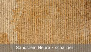 Sandstein Nebra mit scharrierter Oberfläche