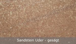 Sandstein Uder mit gesägter Oberfläche
