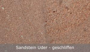 Sandstein Uder mit geschliffener Oberfläche