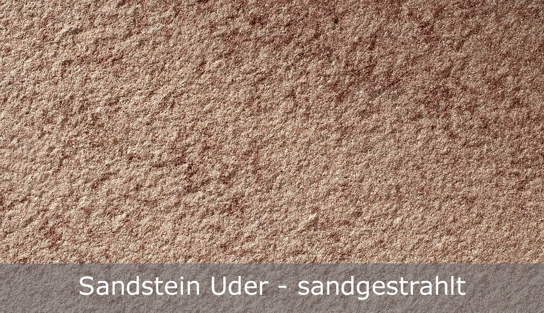Sandstein Uder mit sandgestrahlter Oberfläche