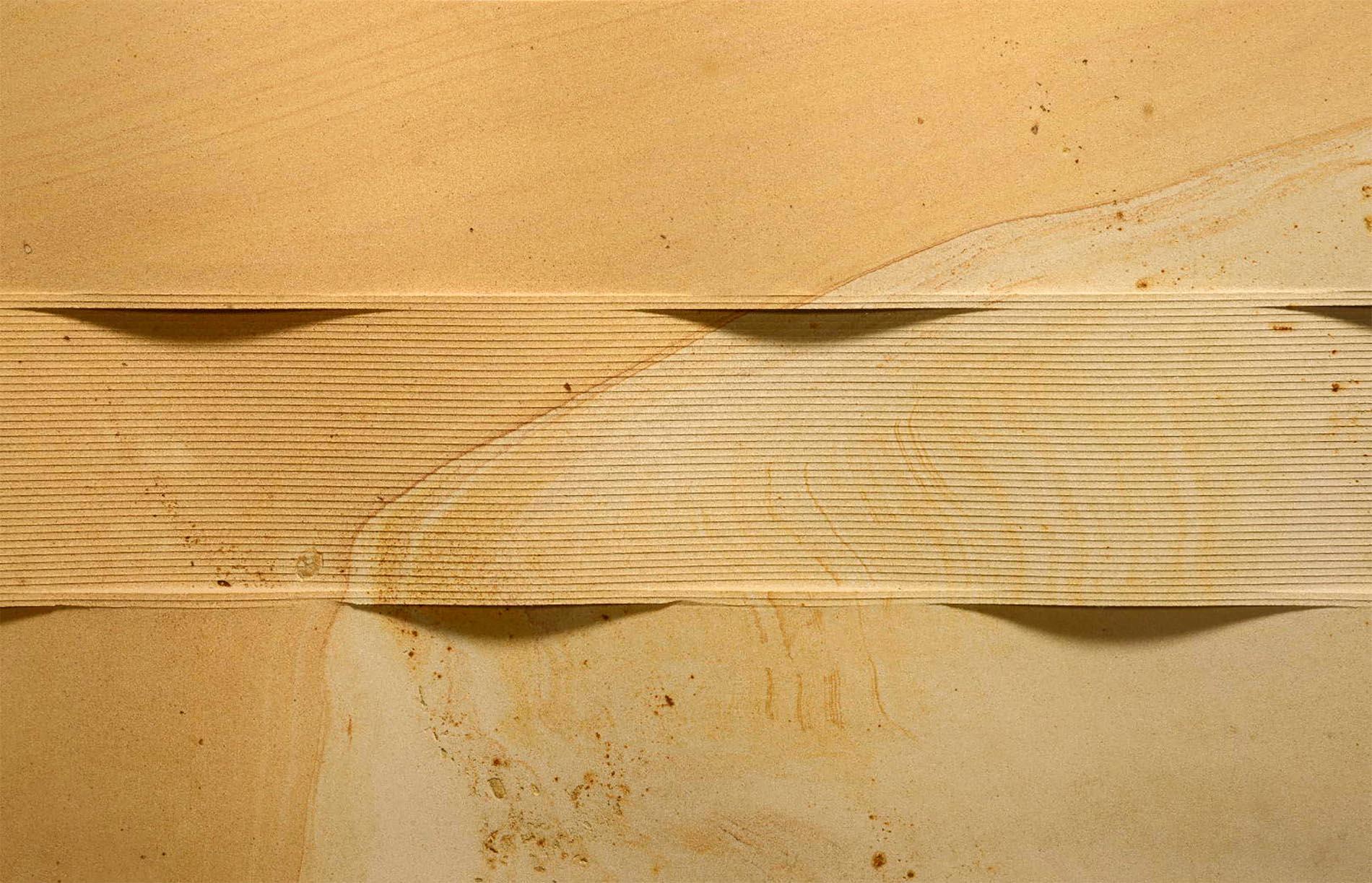 Seeberger Sandstein mit dreidimensionaler Oberflächenbearbeitung