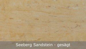Seeberg Sandstein mit gesägter Oberfläche