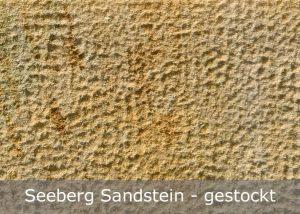 Seeberg Sandstein mit gestockter Oberfläche