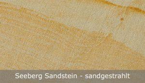 Seeberg Sandstein mit sandgestrahlter Oberfläche