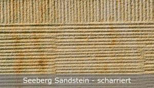 Seeberg Sandstein mit scharrierter Oberfläche