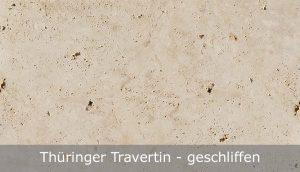 Thüringer Travertin mit geschliffener Oberfläche