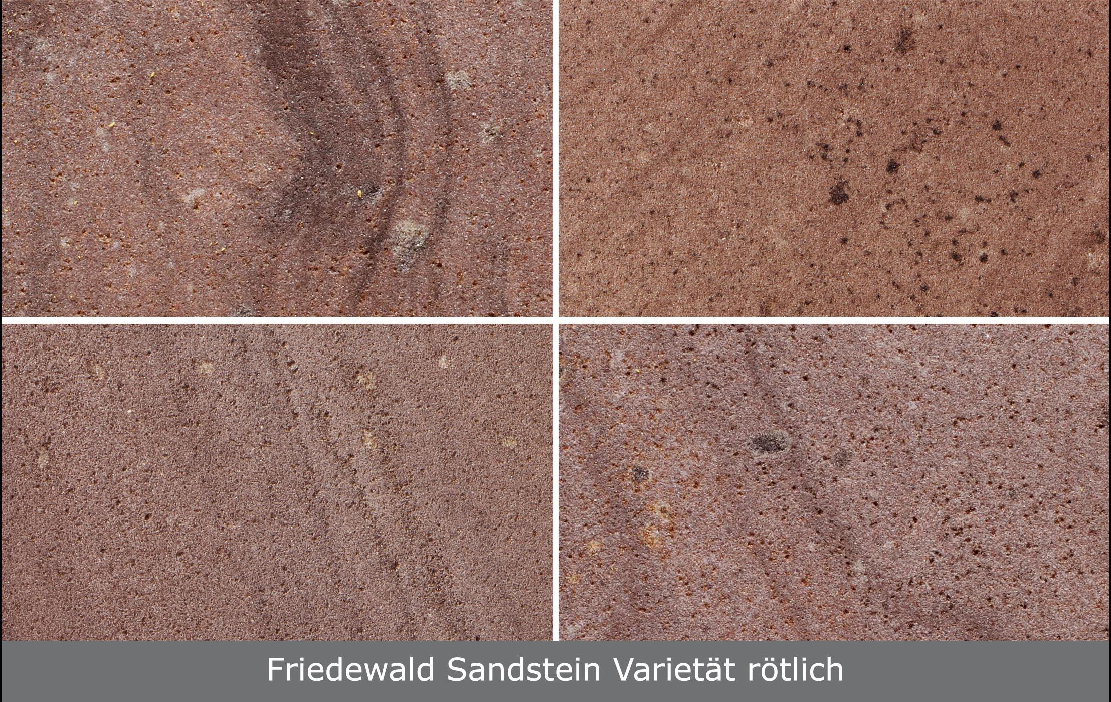 Friedewald Sandstein Varietät rötlich - TRACO