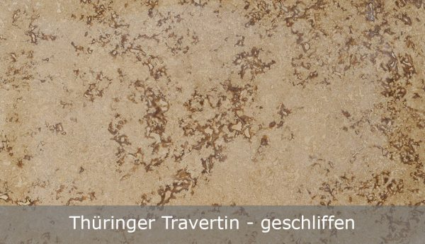 Thüringer Travertin geschliffen