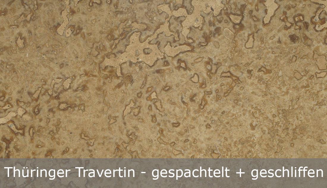 Thüringer-Travertin-geschliffen und gespachtelt