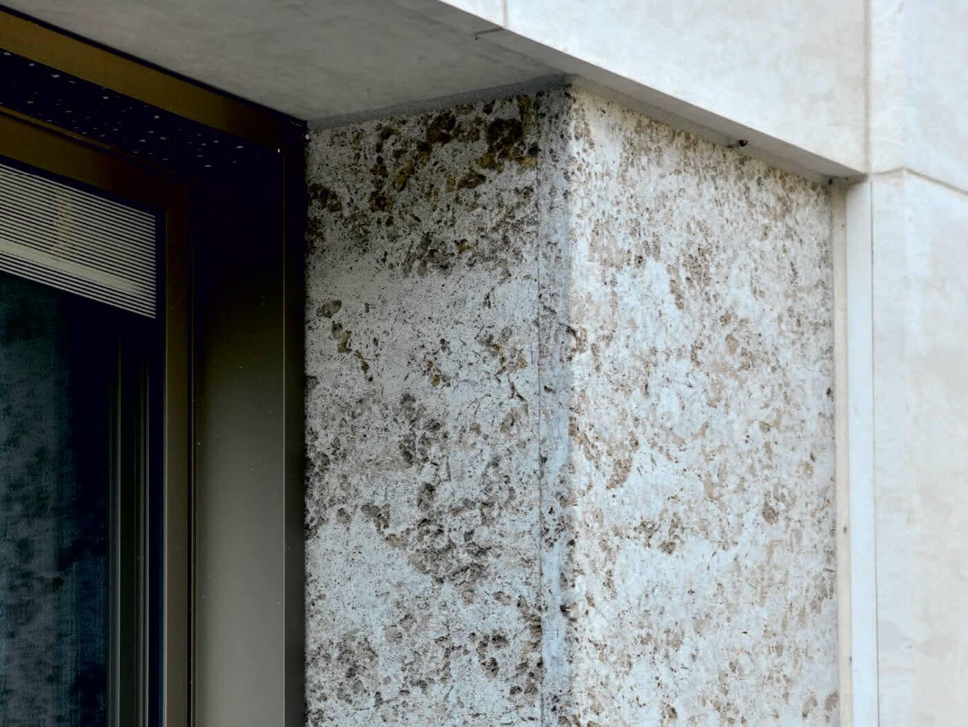 Alstercampus Hamburg-Kohlplatter Muschelkalk grob gekordelt